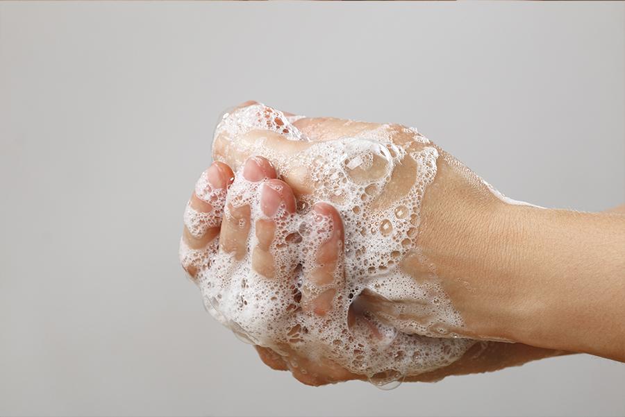 virus bacterie handen wassen